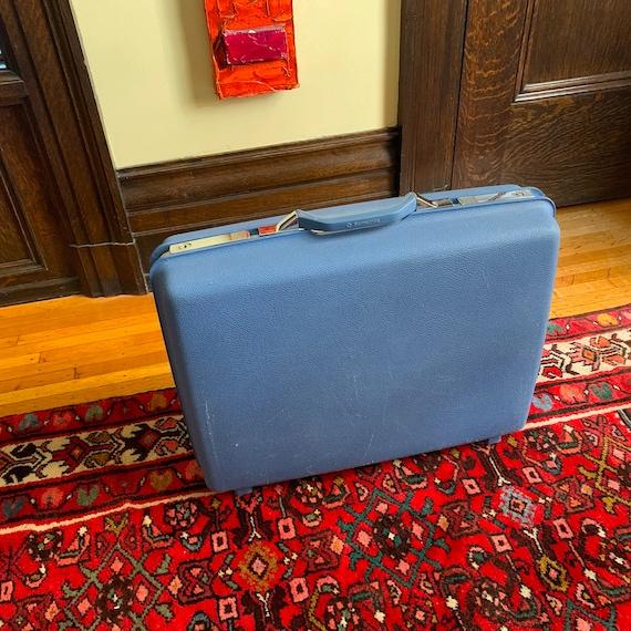 Vintage Suitcase Vintage Luggage Blue Suitcase Sam