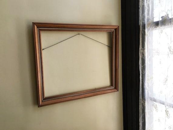 Wood Frame Picture Frame Large Frame Vintage 16x20 Frame Art Frame ...
