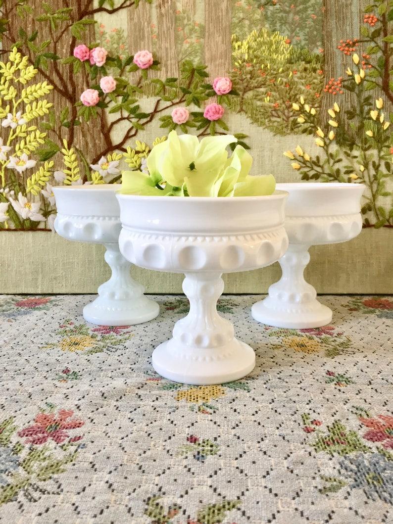 Outstanding Milk Glass Bowl Milk Glass Vase Candy Dish Wedding Centerpiece Vases For Wedding White Candy Buffet Dessert Table Footed Bowl Pedestal Bowl Interior Design Ideas Grebswwsoteloinfo