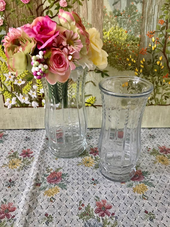 Glass Vase Centerpiece Vase For Wedding Vases Vintage Flower Etsy