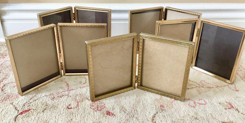 Brass Frames Gold Frames Picture Frames Table Number Holders Wedding ...