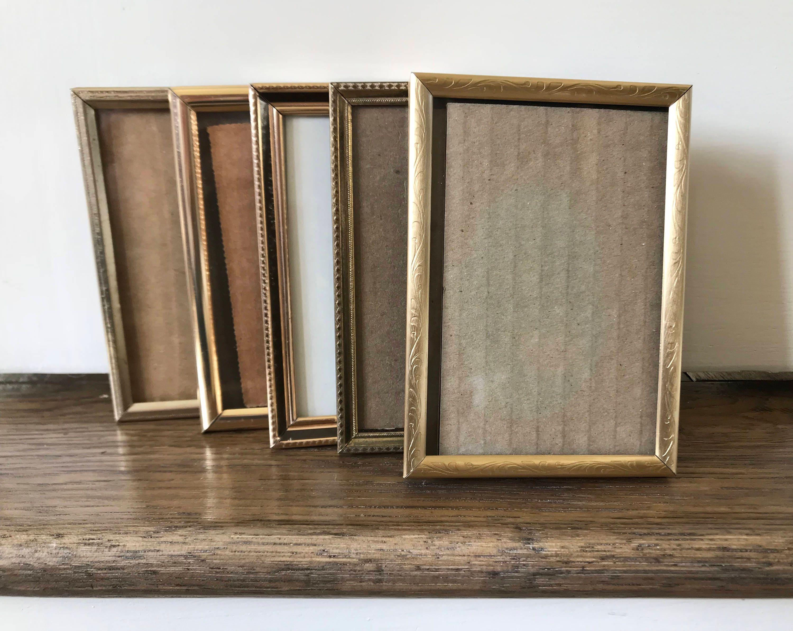 Gold Frames Brass Frame Small Frames Small Picture Frame Table ...