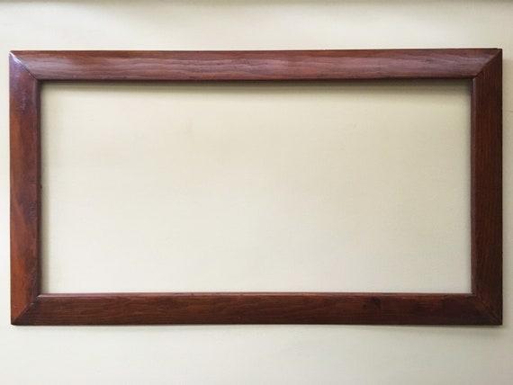 cadre ancien cadre en bois grand cadre photo cadre brun cadre etsy. Black Bedroom Furniture Sets. Home Design Ideas