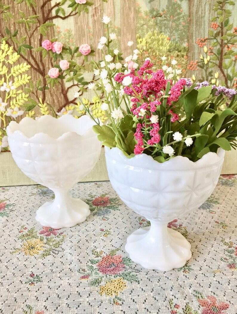 Fantastic Milk Glass Bowl Milk Glass Vase White Bowls Candy Dish For Wedding Centerpiece Vases For Wedding Pedestal Bowl Bulk Vases Wedding Candy Bar Interior Design Ideas Grebswwsoteloinfo