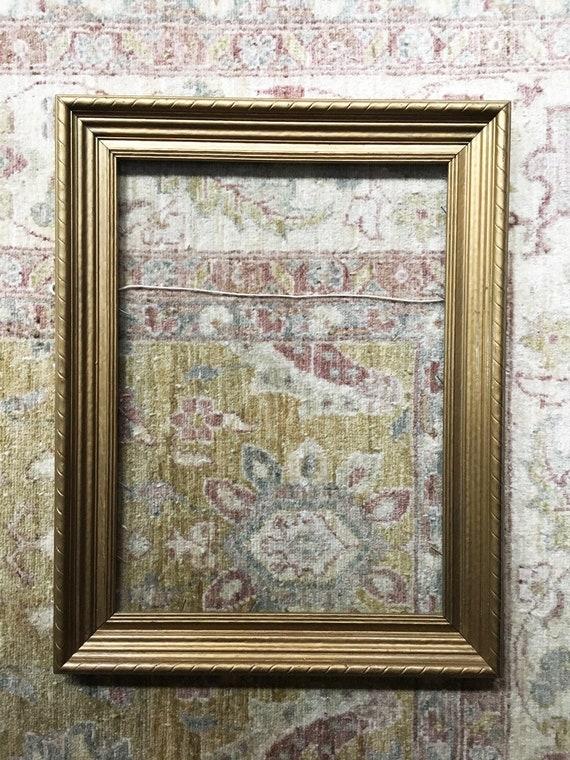 Wood Frame Gold Frame Picture Frame Vintage Frame With Glass Etsy