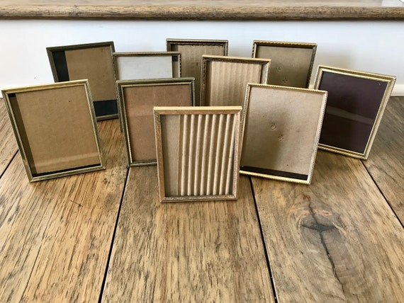 Gold Frames Brass Picture Frame Small Frames 4x5 Picture Frame Table ...