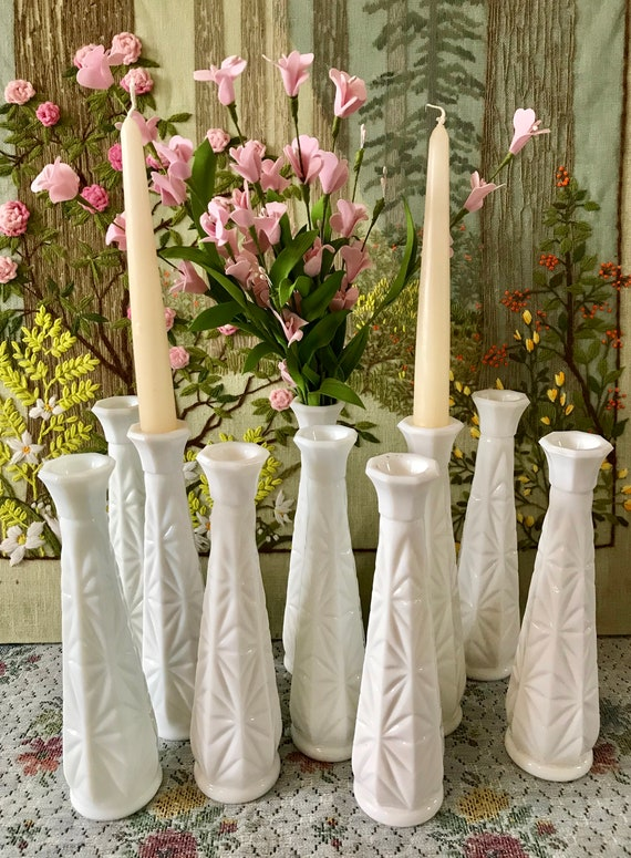 Milk Glass Vases Wedding Centerpiece Vases For Wedding Vases Etsy