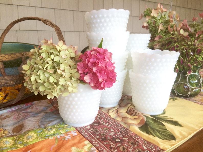 Vases Milk Glass Vases Milk Glass Bowl Milk Glass Planter image 0