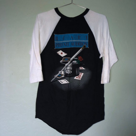 80s heart private audition band T-shirt