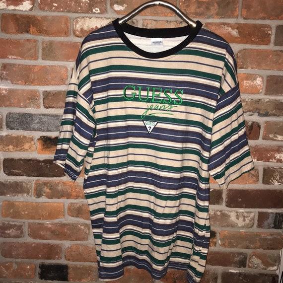 Striped vtg guess tshirt