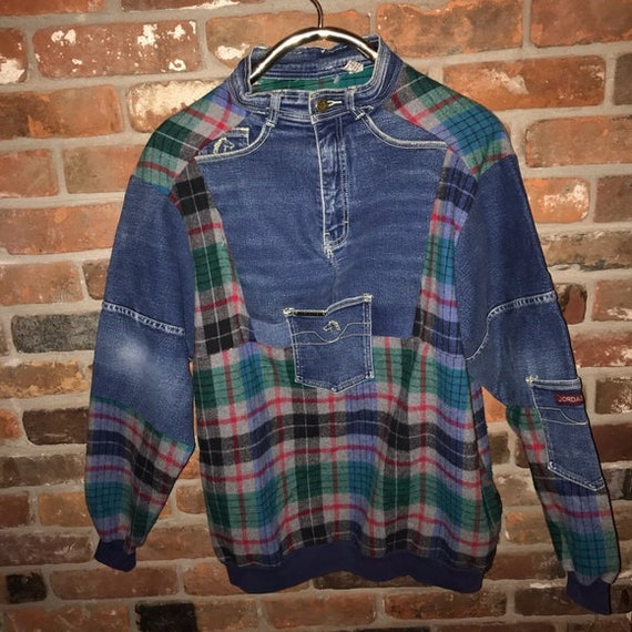 Custom jordache wool denim pullover