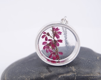 Real Flower Necklace Pressed Flower Pendants Botanical Jewelry Resin Flower Pendants Dry Flowers Plant Terrarium gift  for girls