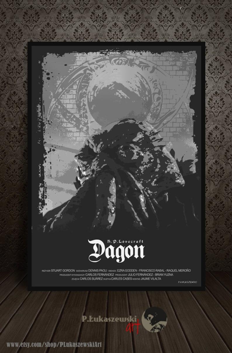 DAGON - H P  Lovecraft - alternative movie poster / print [ Raquel Merono  Francisco Rabal Macarena Gomez Stuart Gordon Ezra Godden ] 2001