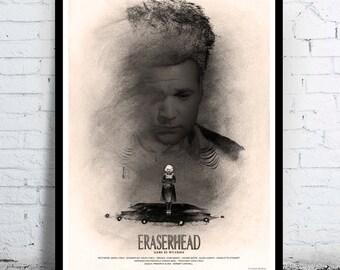 ERASERHEAD - David Lynch - alternative movie poster / print [ Jack Nance Charlotte Stewart Allen Joseph Jeanne Bates Laurel Near ]  1977