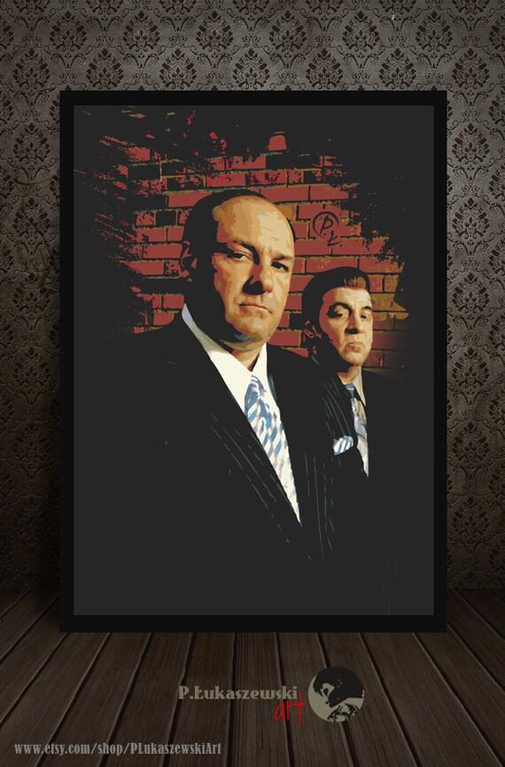 THE SOPRANOS TV Show PHOTO Print POSTER Series Cast Art James Gandolfini Tony 04
