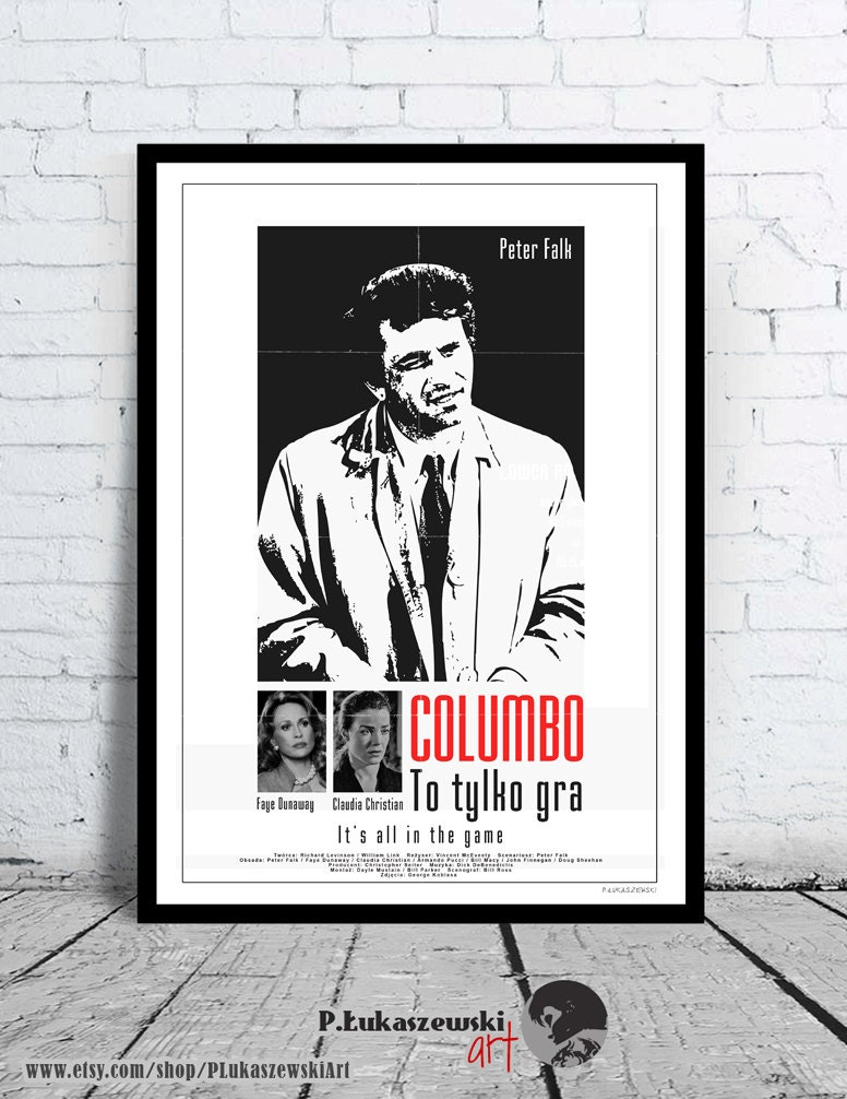 COLUMBO Peter Falk Kult / classic alternative Filmplakat / | Etsy