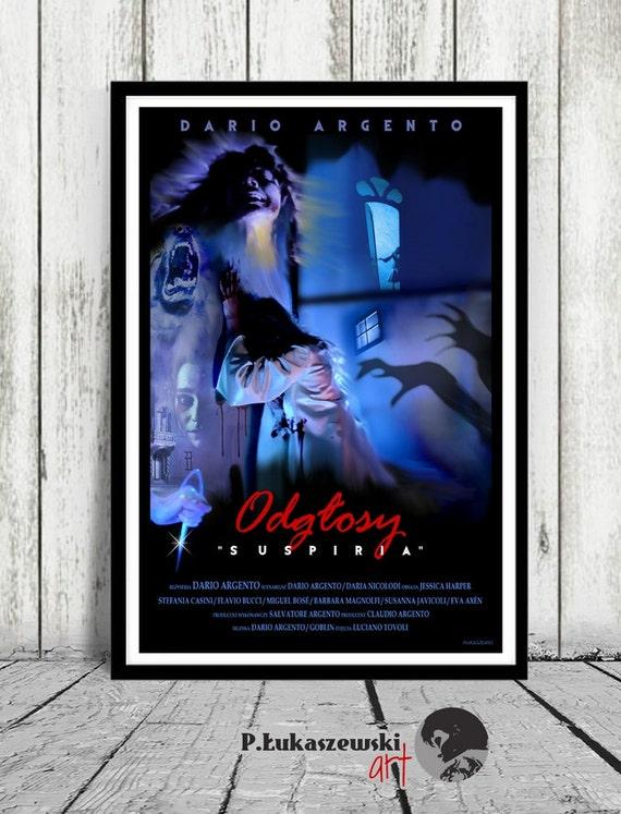 Suspiria Dario Argento Plakaty Filmowedruk Horror Jessica Etsy