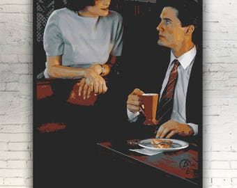 "Twin Peaks - CANVAS -16""x12"" artwork print on cotton canvas alternative movie poster David Lynch Audrey Horne Sherilyn Fenn Dale Cooper"