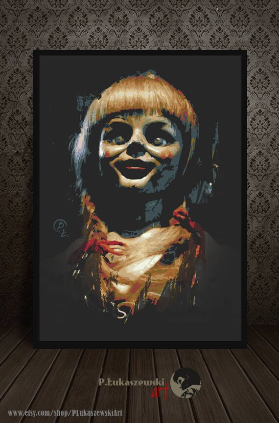 ANNABELLE Portrait alternative Film Plakat Druck minimal | Etsy