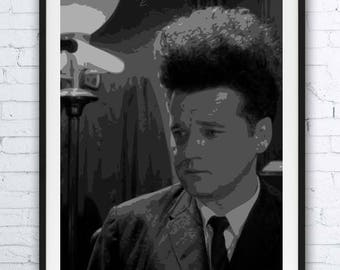ERASERHEAD - portrait - alternative movie poster print minimalist pop art draw paint Jack Nance 1977 David Lynch