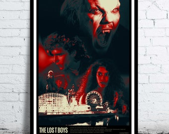 THE LOST BOYS - cult / classic movie poster / print [ Joel Schumacher Jason Patric Kiefer Sutherland Corey Haim Corey Feldman vampire horror
