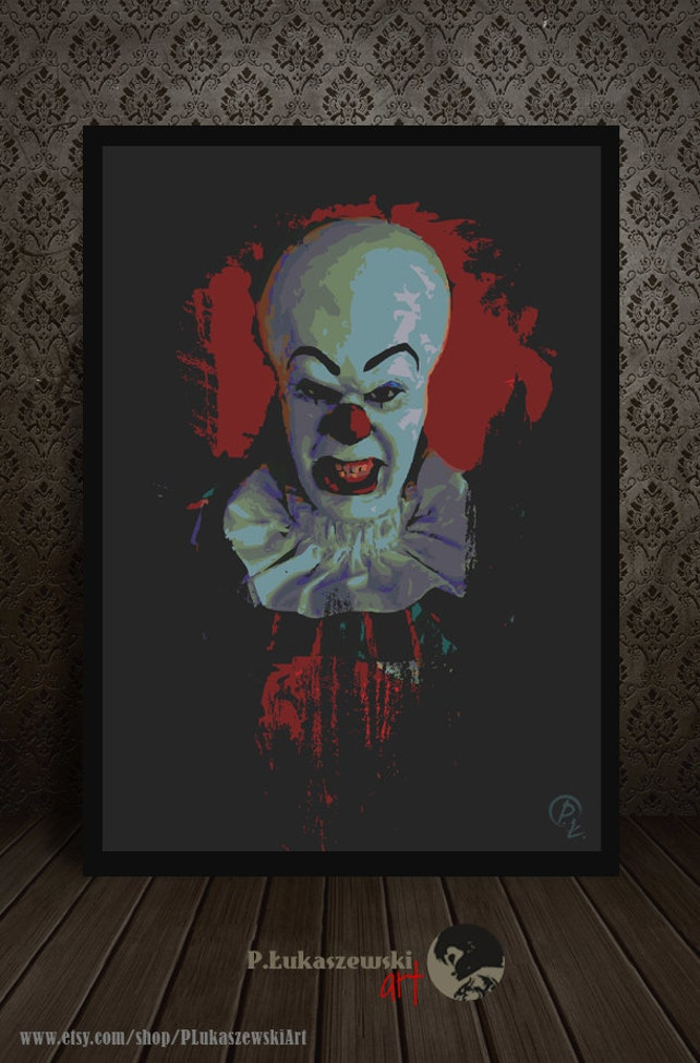 PENNYWISE Portrait IT alternative Film Plakat Druck | Etsy