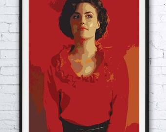 TWIN PEAKS - portrait - alternative movie poster print minimalist pop art draw paint David Lynch Audrey Horne Sherilyn Fenn