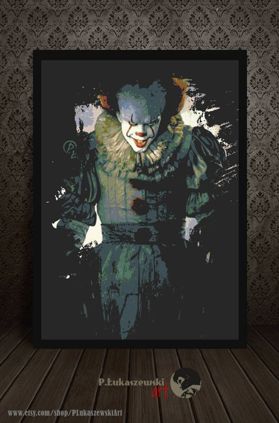 Coloriage Clown Ca.Pennywise Portrait It Alternative Movie Poster Print Minimalist Pop Art Draw Paint Stephen King Horror The Dancing Clown 2017
