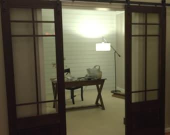 Sliding Barn doors with glass