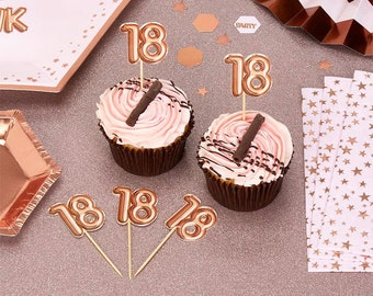 Rose Gold 18th Birthday Food Picks