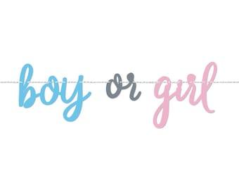 Personalized Gender Reveal Sign Banner Let the Adventure Begin Pink Floral Gender Reveal Boy or Girl Banner Gender Reveal Party Banner