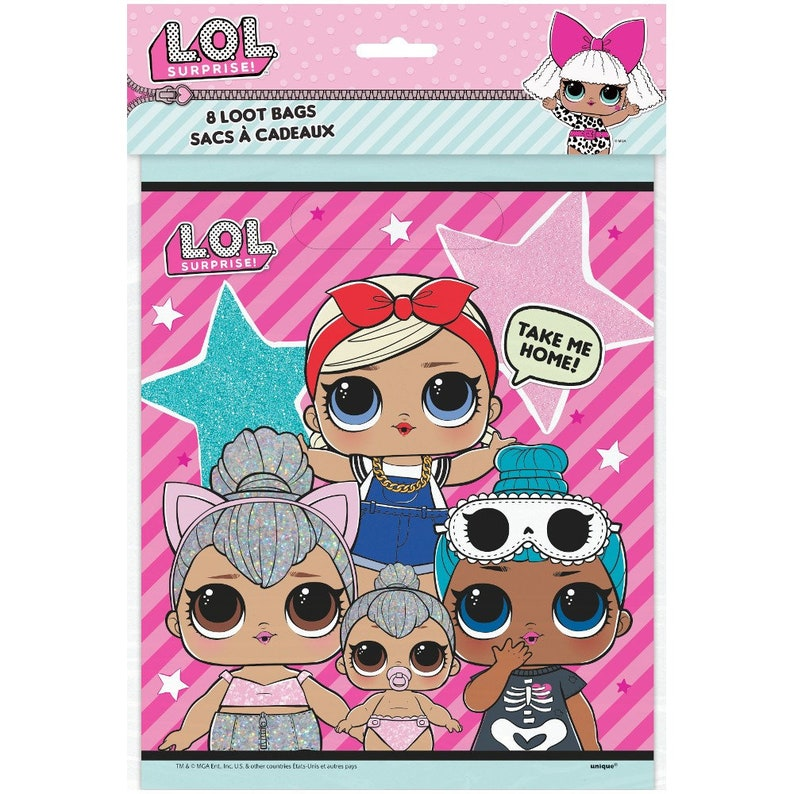 LOL Surprise Loot Bags Pack Of 8 Girls Birthday Party