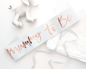 Mummy To Be Sash, White and Rose Gold Baby Shower Sash, Twinkle Twinkle Sash, Mum To Be, New Baby Arrival, Baby Shower Party Accessories