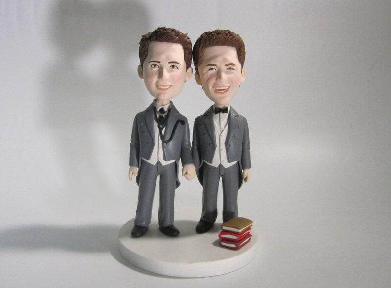 Gay Wedding Cake Topper Personalized Toppers Funny Cartoon Figurines