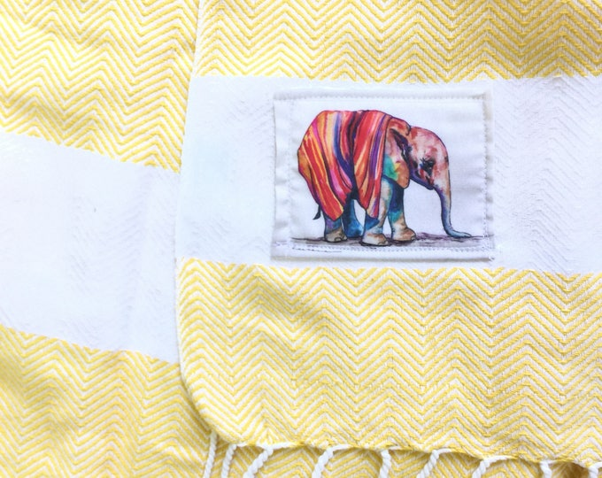 Yellow Wrap Blanket