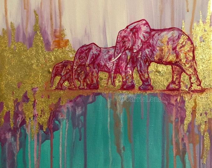 Pink Elephants Painting