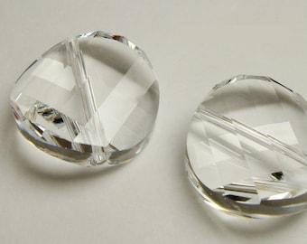 Crystal Clear 5621 - Faceted Twist - Swarovski Crystal (14mm, 18mm, 22mm)