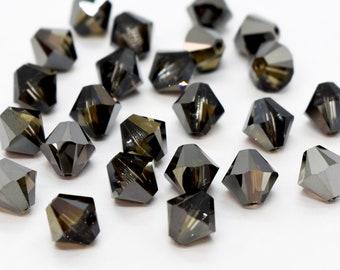 142 swarovski bicone crystal beads,4mm bermuda blue #5301