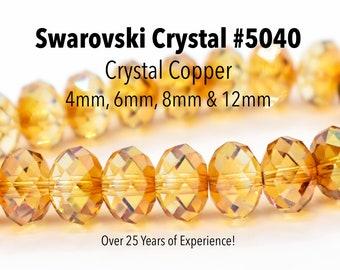 1xSwarovski ® Crystal Copper 5040 18mm Bead