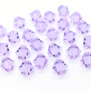 17 pcs Swarovski 4mm Crystal JONQUIL Bicone Faceted Beads