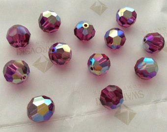 Fuchsia AB 5000 - 4mm, 6mm, 8mm, 10mm - Swarovski Crystal Round Bead (12-72 pcs)