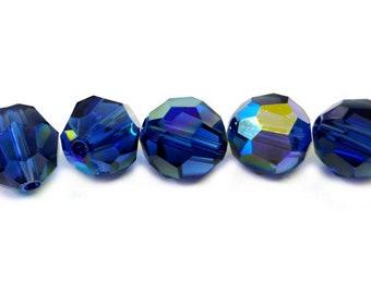 Dark Sapphire AB 5000 - 8mm - Swarovski Crystal Round Bead (12 or 24 pcs)