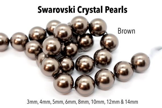 Swarovski  #5810 Crystal ROUND PEARL Beads 3mm 4mm 6mm 8mm 10mm WHITE Many Color