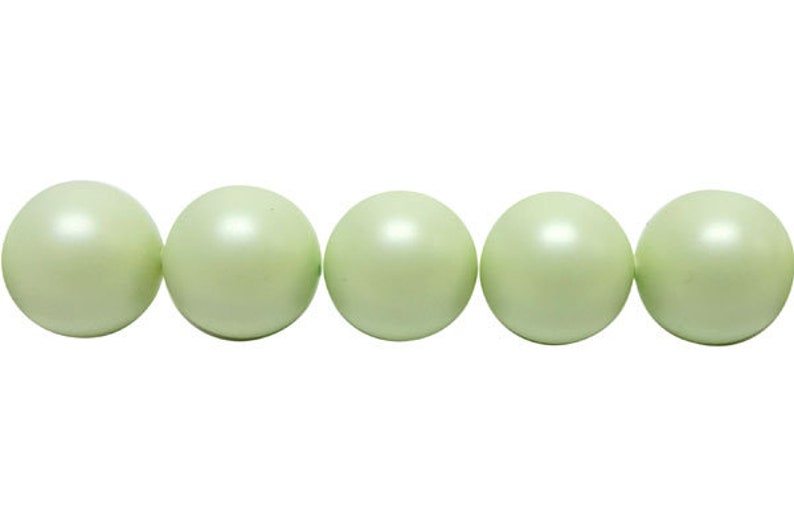 b6652bce1b195 Pastel Green - Swarovski Crystal Pearls - 5810 Round - 3, 4, 6mm (50-100  pcs)