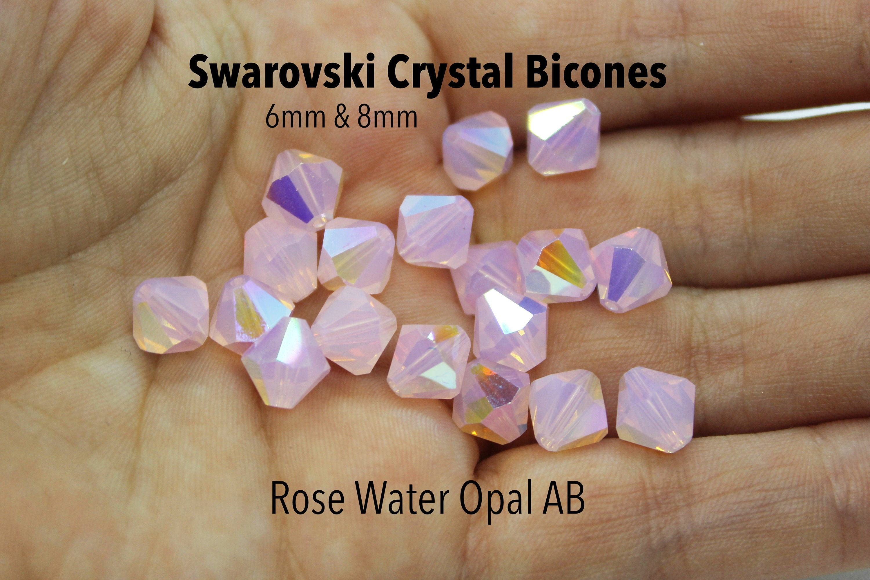 full box,72 new preciosa bicone crystal beads,12mm light rose
