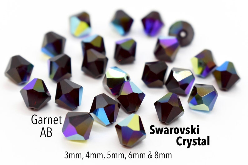Swarovski 5328 Elements Garnet Beads Bicones 3mm 50pcs