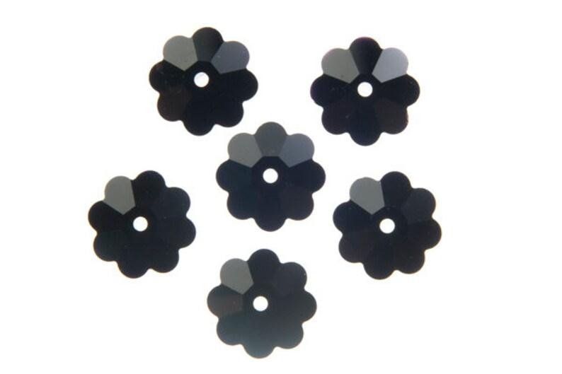 12 Swarovski Marguerite Lochrose 10x3.5mm Flower Crystal Beads Crystal AB 3700