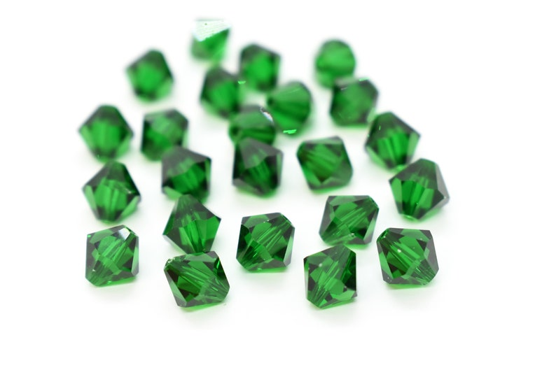 8b954cd81 Medium Emerald 5328 / 5301 Swarovski Crystal Bicone Bead | Etsy