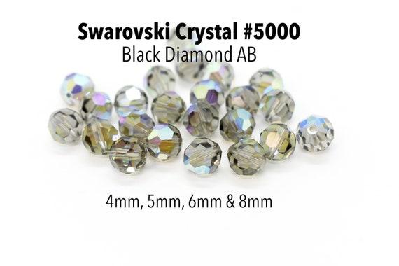 Swarovski 5000 5mm Crystal AB Faceted Bead 4 Pcs, 36 Pcs, 144 Pcs, 720 Pcs