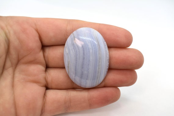 18x25mm Smooth Rectangular Blue Lace Agate